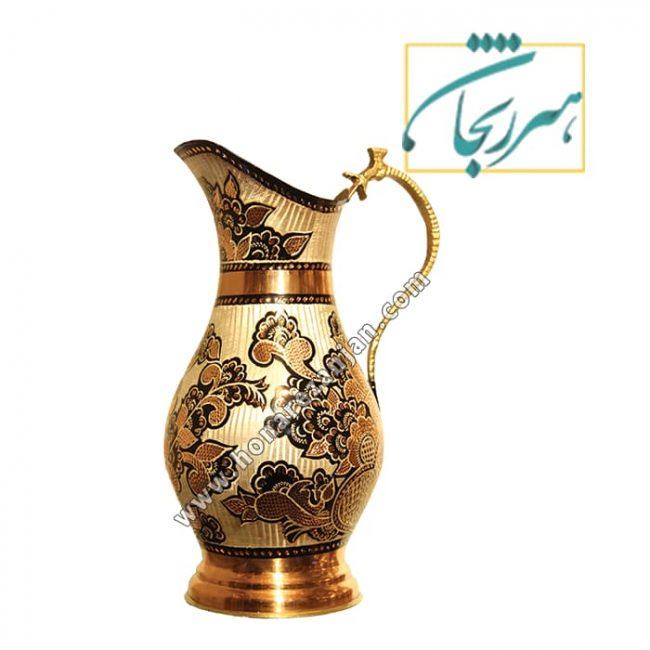 خرید پارچ مسی کنار سماور | قیمت پارچ مسی | مس زنجان