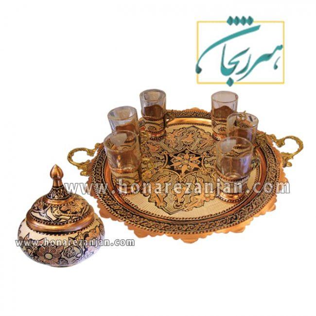 قیمت سرویس چای خوری مسی | خرید سرویس چای خوری مسی | هنر زنجان