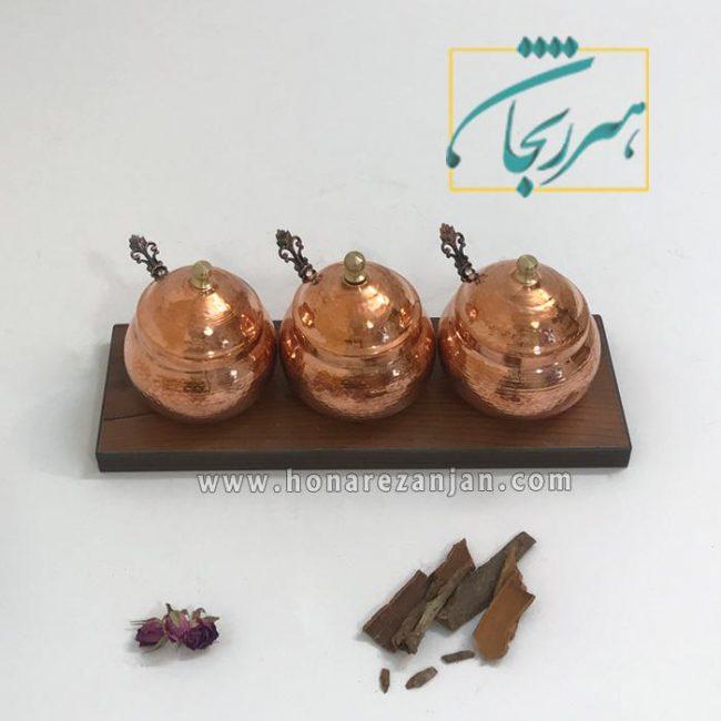جا ادویه ای مسی چکشی زنجان   خرید و قیمت جا ادویه ای مسی چکشی